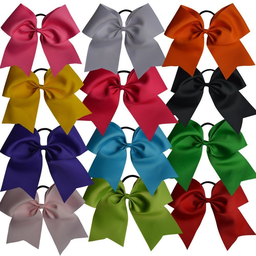 Bzybel inch large cheer bow cheerleading bows big hair bows with