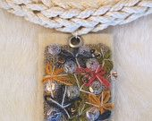 FREE SHIPPING-Embroidered floral necklace-tribal necklace-embroidery on felt jewerly