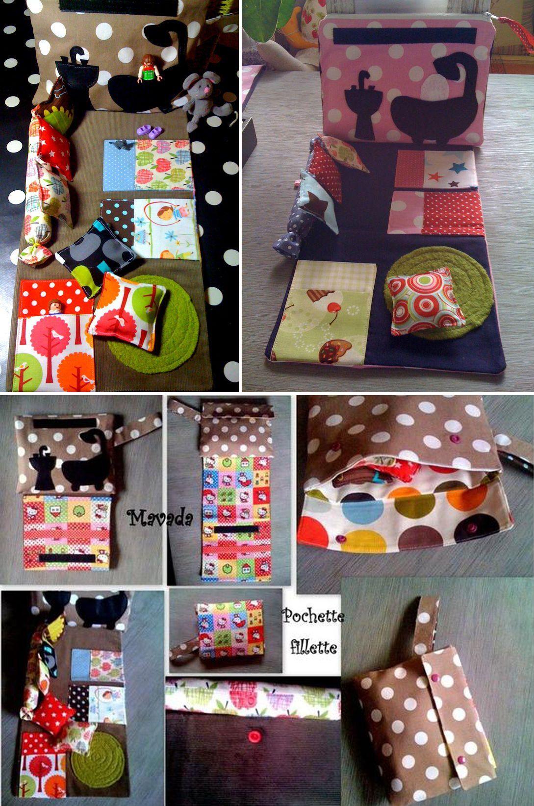 trousse de voyage pour poup e couture bricolage pinterest trousses de voyage voyages. Black Bedroom Furniture Sets. Home Design Ideas