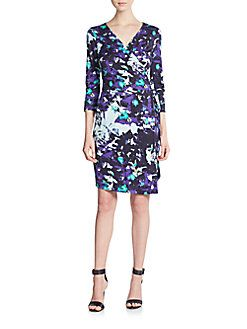 New Julian Two Printed Silk Jersey Wrap Dress