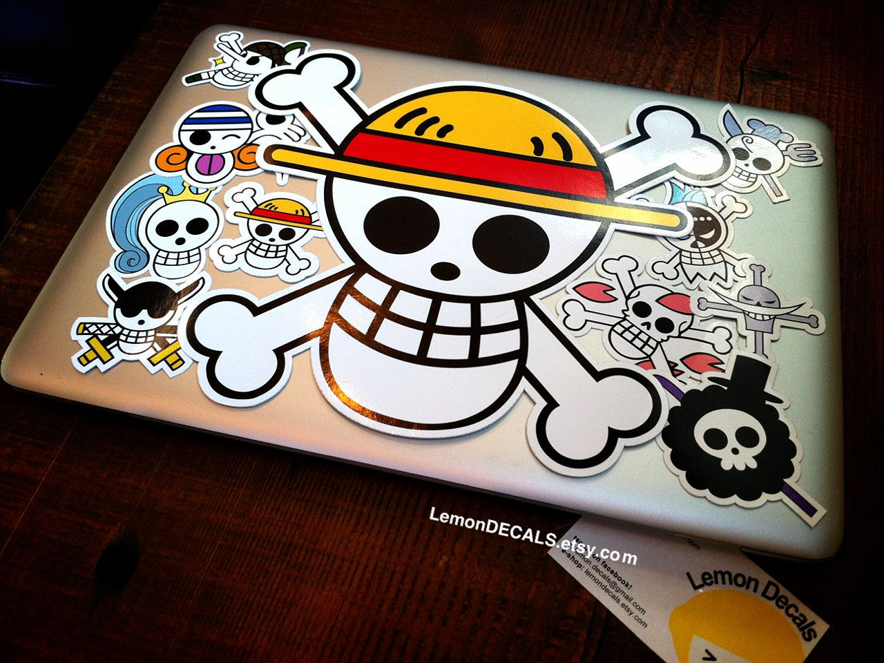 One piece luffy straw hat 10 computer laptop decal lemondecals computer laptop