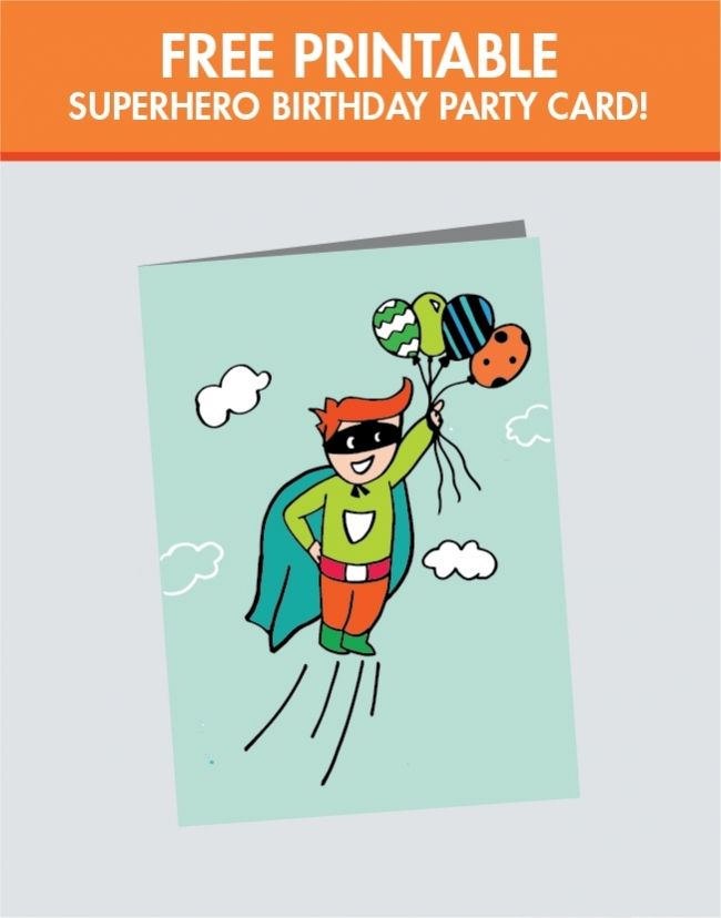 Free Superhero Printable Birthday Card