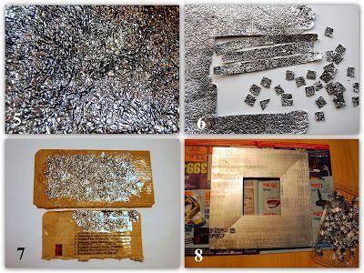 La Aventura De Las Manualidades Marco Espejo Con Papel Aluminio Papel Aluminio Marcos Para Espejos Sobres De Papel