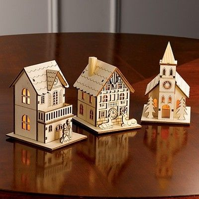2250 Create A 19th Century Winter Village Scene With Our Laser Cut