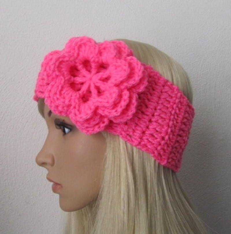 How to Crochet Earwarmer/Headband with a Flowerw by ThePatterfamily ...
