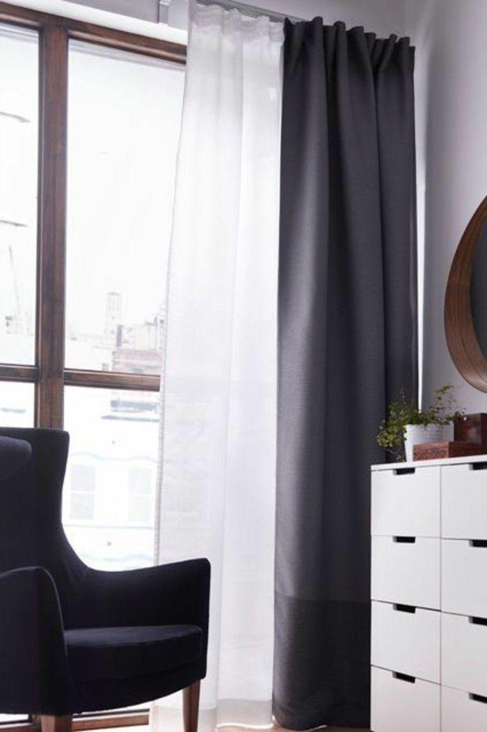 le rideau voilage dans 41 photos maison curtains window dressings et wall. Black Bedroom Furniture Sets. Home Design Ideas