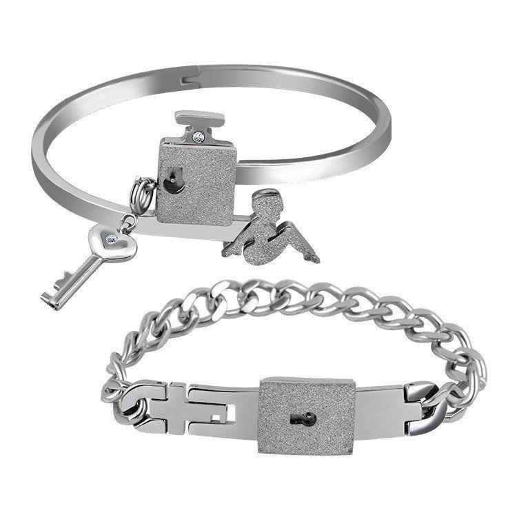 f90afa8fb Forever Love Lock & Key Couple Bracelets in 2019 | Couple Bracelets ...
