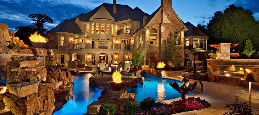 Nice Houses With Pools chicago custom pool builder and pool designer, barrington pools