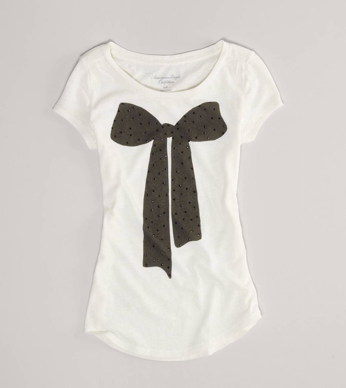 AE Embellished Graphic T, with a black leather skirt, or even a tulle skirt!! yes!!