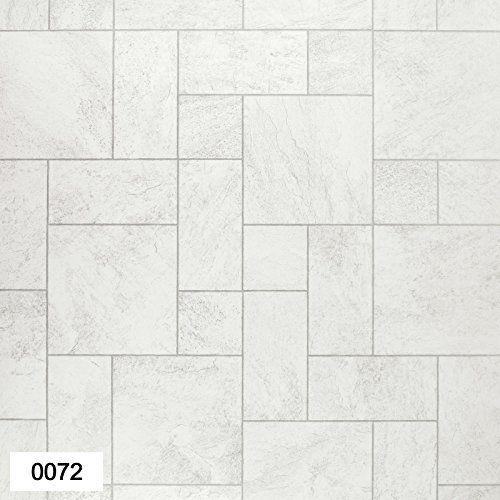 Mega Flooring 0072 Portland White Cream Tile Effect Anti Slip