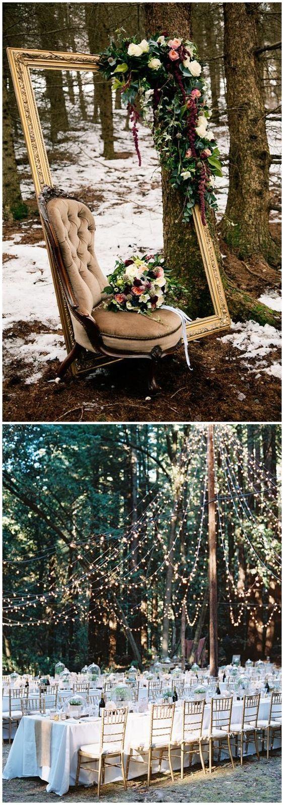 Wedding decoration ideas at church   Woodland Wedding Ideas You Can Get Inspired  Weddings Wedding
