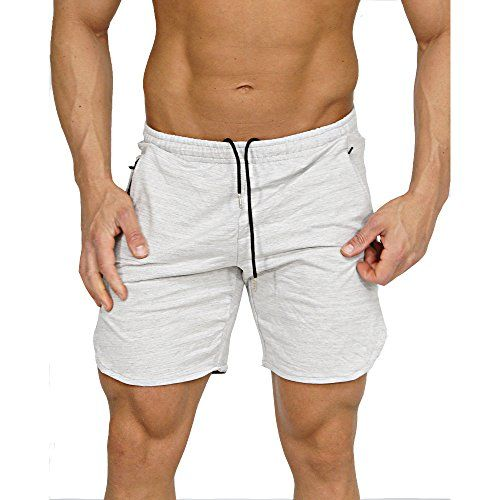 b79b9983349a7 Men s Gym Workout Shorts Running Short Pants Fitted Train... https