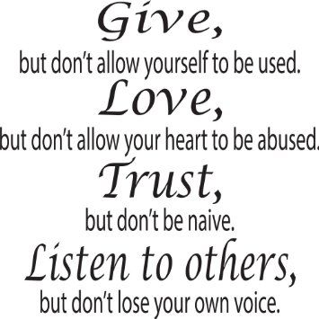 Amazon.com - Give Love Trust Listen to Others Wall Decal ...