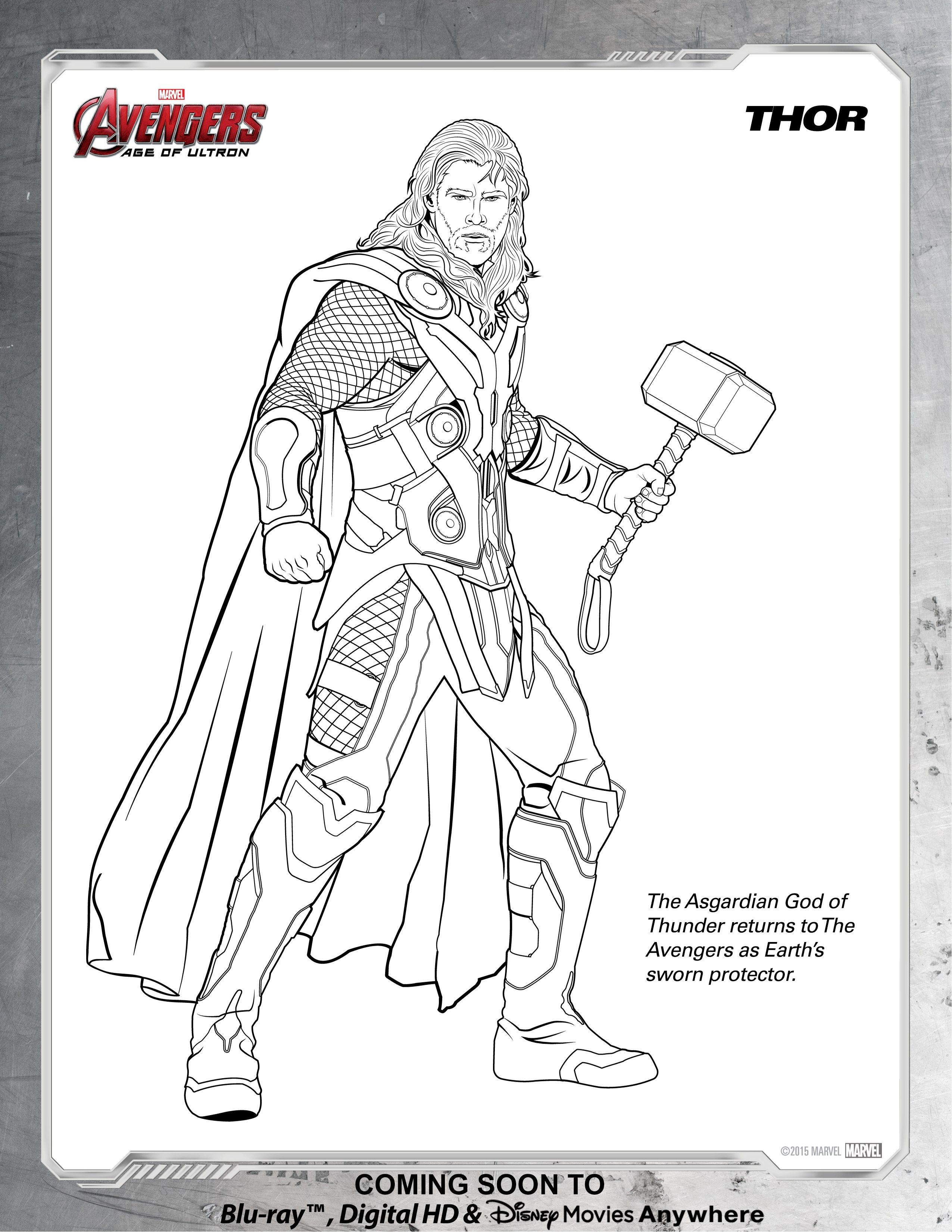 24+ Amazing Photo of Thor Coloring Pages | Avengers ...