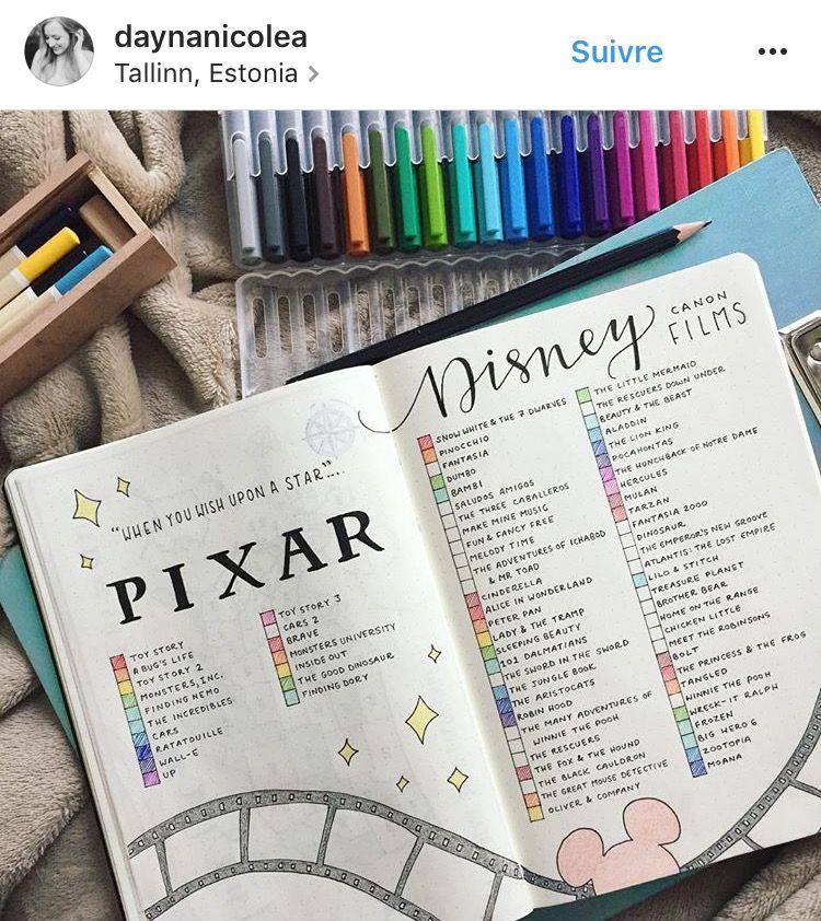 Lista Peliculas Disney El Tiempo Es Perfecto Bullet Journal