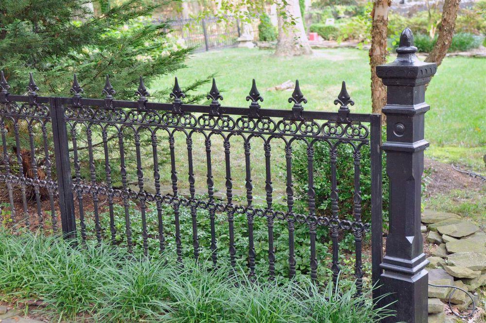 Cast Iron Victorian Style Estate Fencing Victorian Gardens