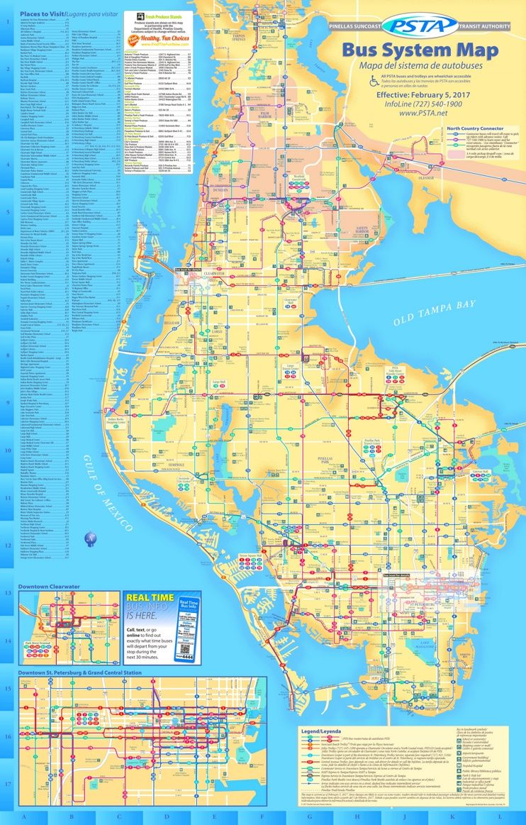 St. Petersburg bus map | Maps | Pinterest | Bus map, Usa cities and City