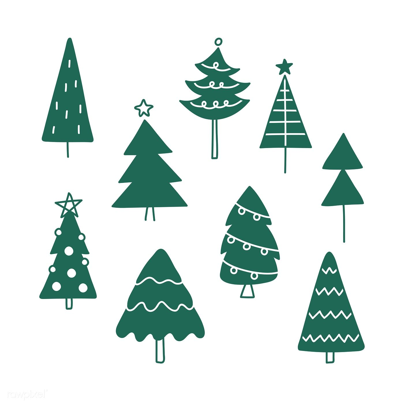 Christmas Pine Tree Pattern Background Drawing Doodle Style Free Image By Rawpixel Com Christmas Tree Drawing Tree Drawing Background Drawing