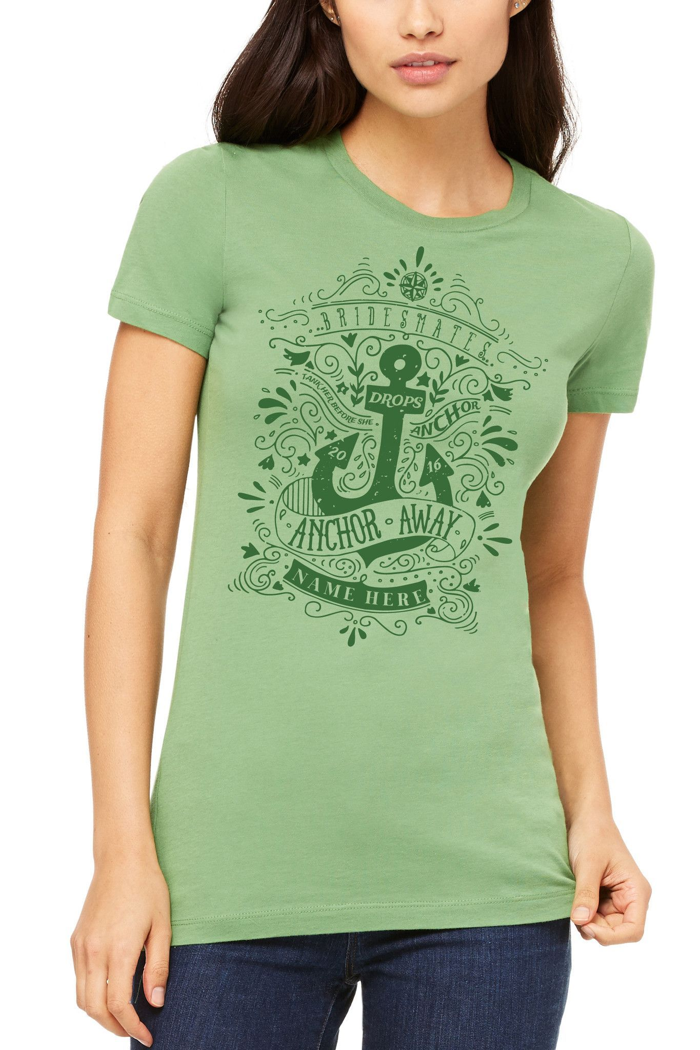 Bridesmates - Tank Her Before She Drops Anchor - Women's The Favorite Tee