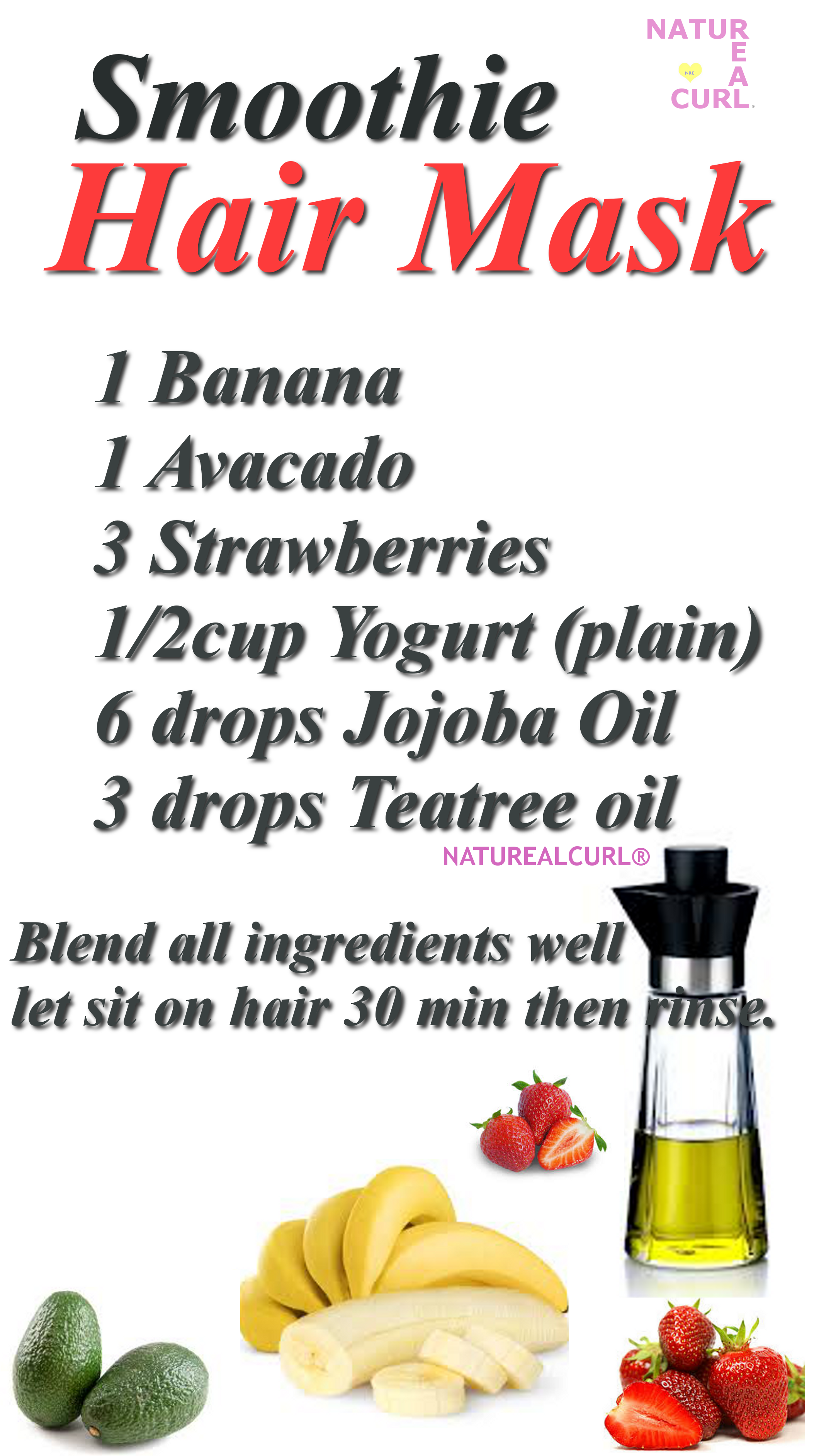 Natural Hair Care. Plus coconut milk and honey for extra