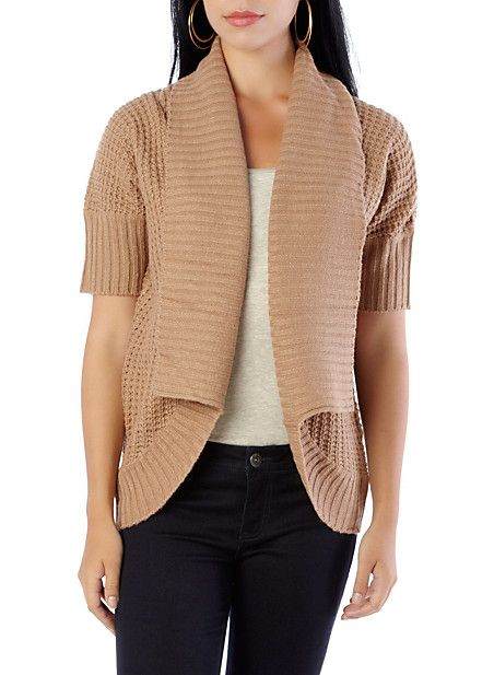 Wide-Rib Open Cardigan