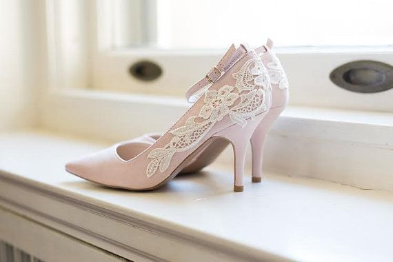 Wedding Shoes - Blush Heels, Blush