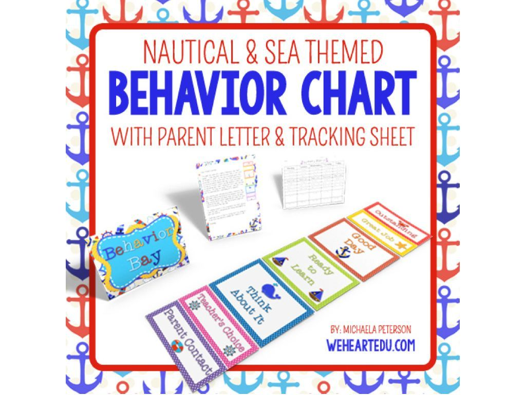 Nautical Theme Behavior Chart Editable