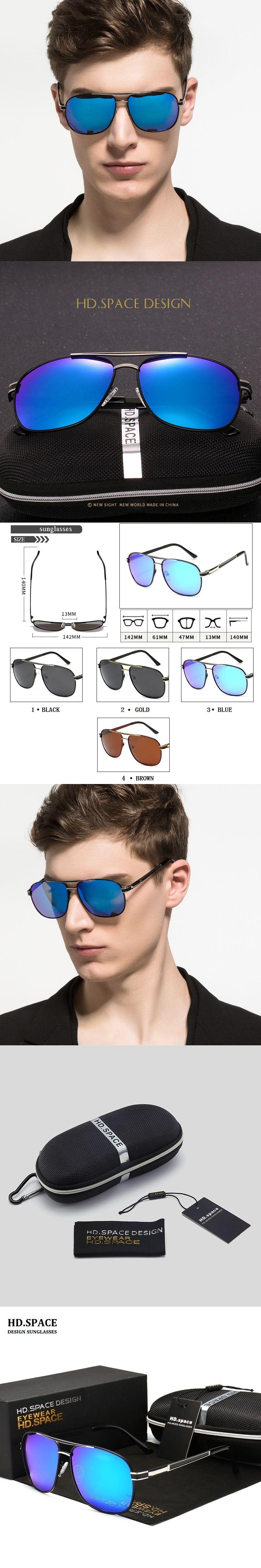 4f296c38cd Polarized Sunglasses Men Original Brand HD Polaroid Lens Reflective Coating  Driving Sunglasses Vintage Male Google Eyewear