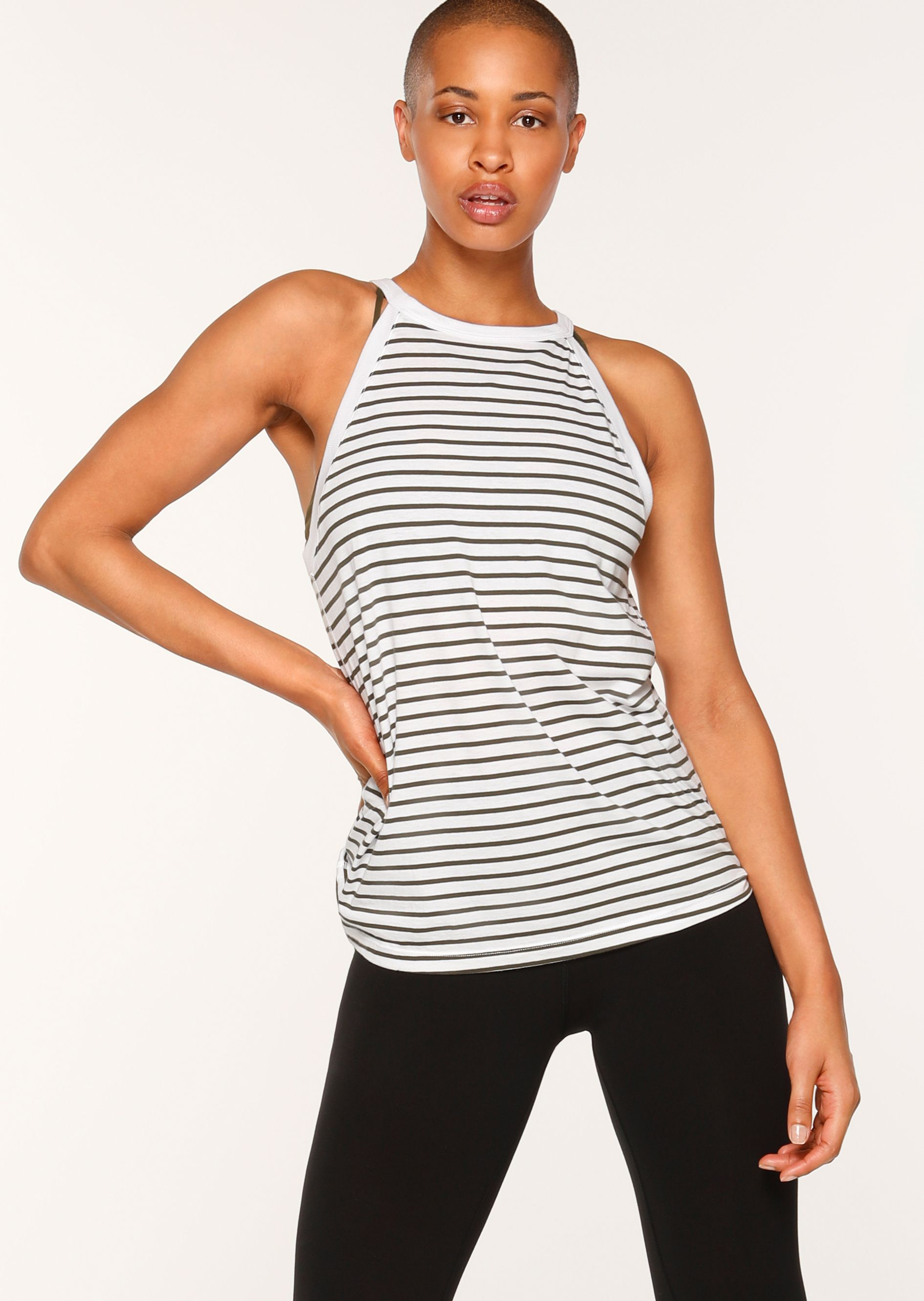 327a6aeac2c7b This cotton stripe tank is the perfect all-rounder. Its easy wear higher  neck