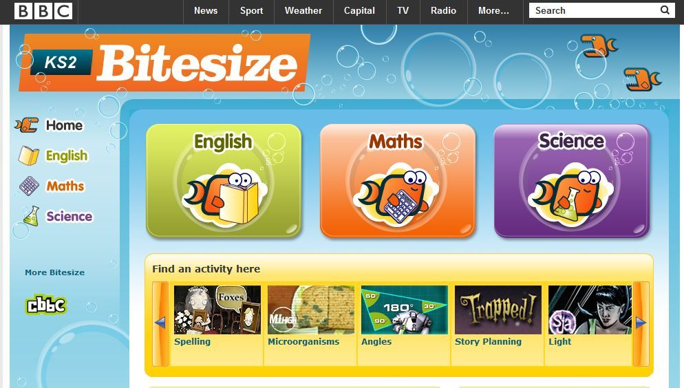 This English Site Bbc Bitesize Has Some Excellent Games And Videos Including Phonics For Stude Reading Games For Kids Teaching Technology School Technology