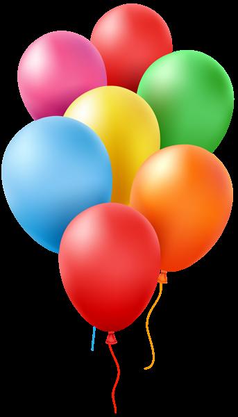 Balloons Transparent Clip Art Image | Luftballons - Rund ...  Balloons