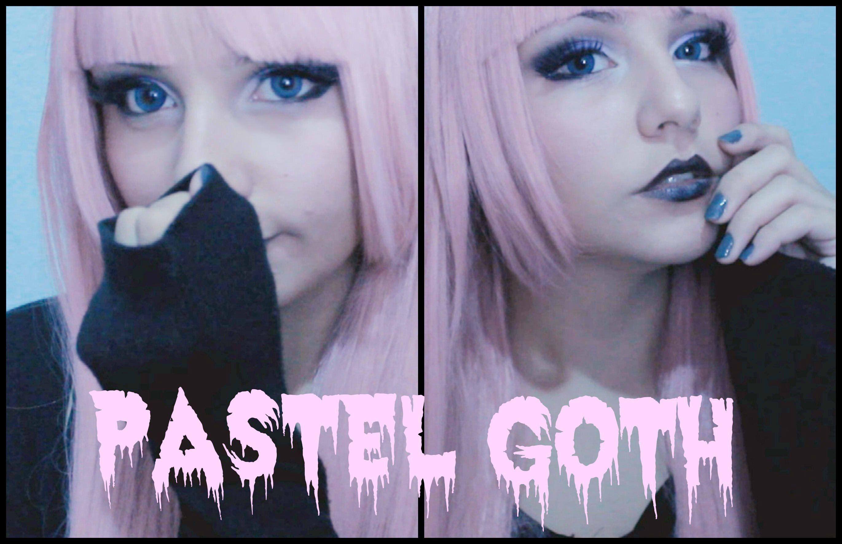 Pastel Goth Makeup tutorial by Akumapinku Pastel goth