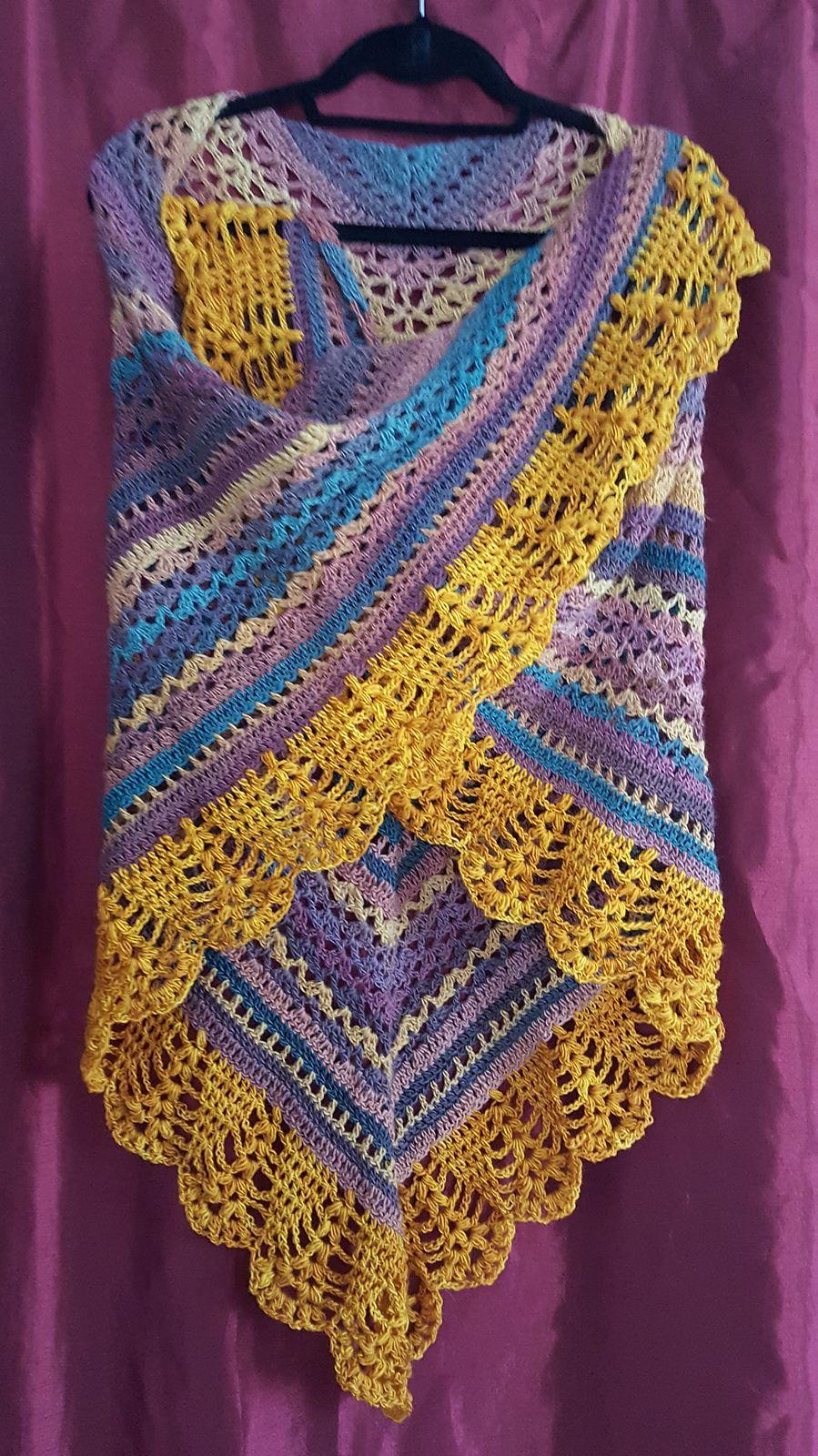 Erigeneia Shawl By Silke Terhorst - Free Crochet Pattern - (ravelry ...