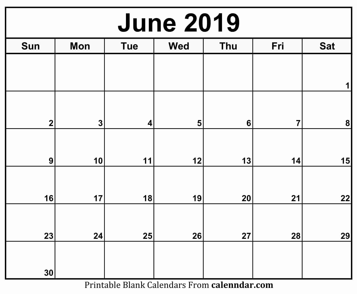 Unique 49 Examples Printable Daily Calendar June 2019 June 2019