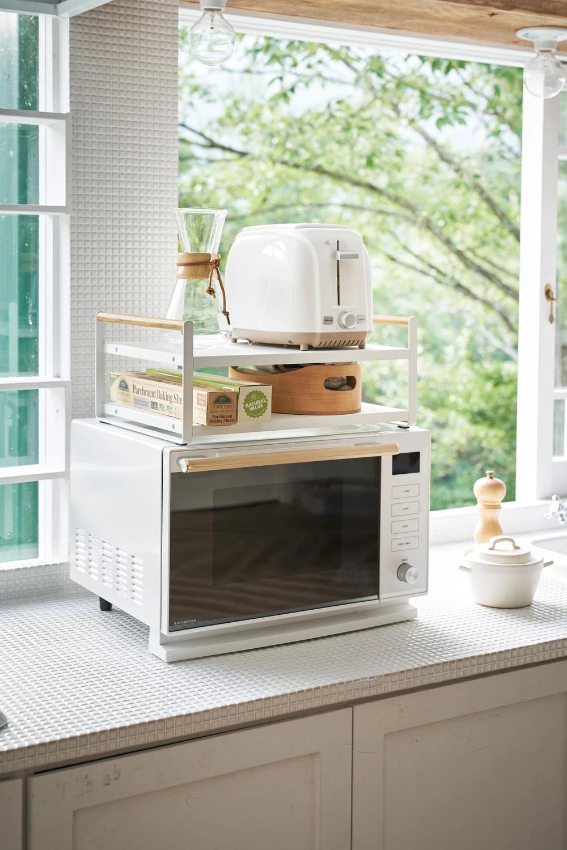 Microwave Top Rack White Countertops Kitchen Hacks Organization Microwave