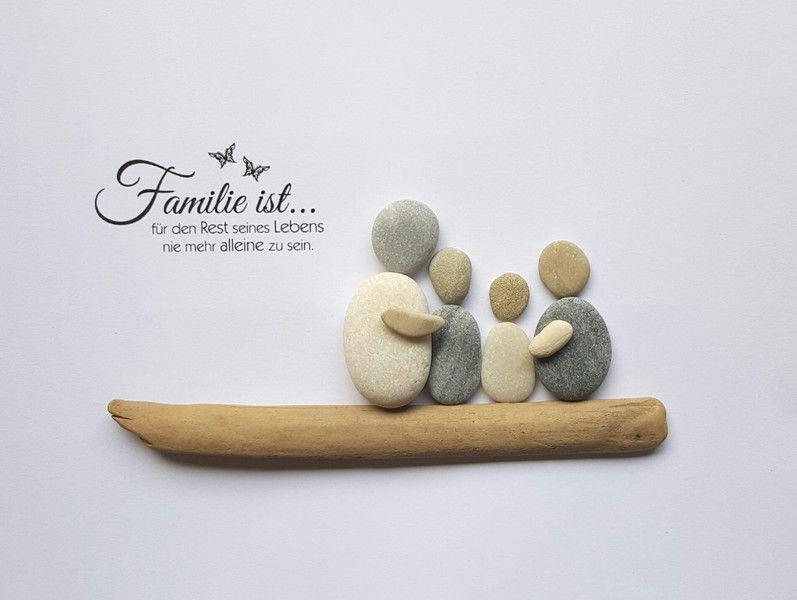 wunschbild aus kieselsteinen familie ist 3d rahmen der. Black Bedroom Furniture Sets. Home Design Ideas
