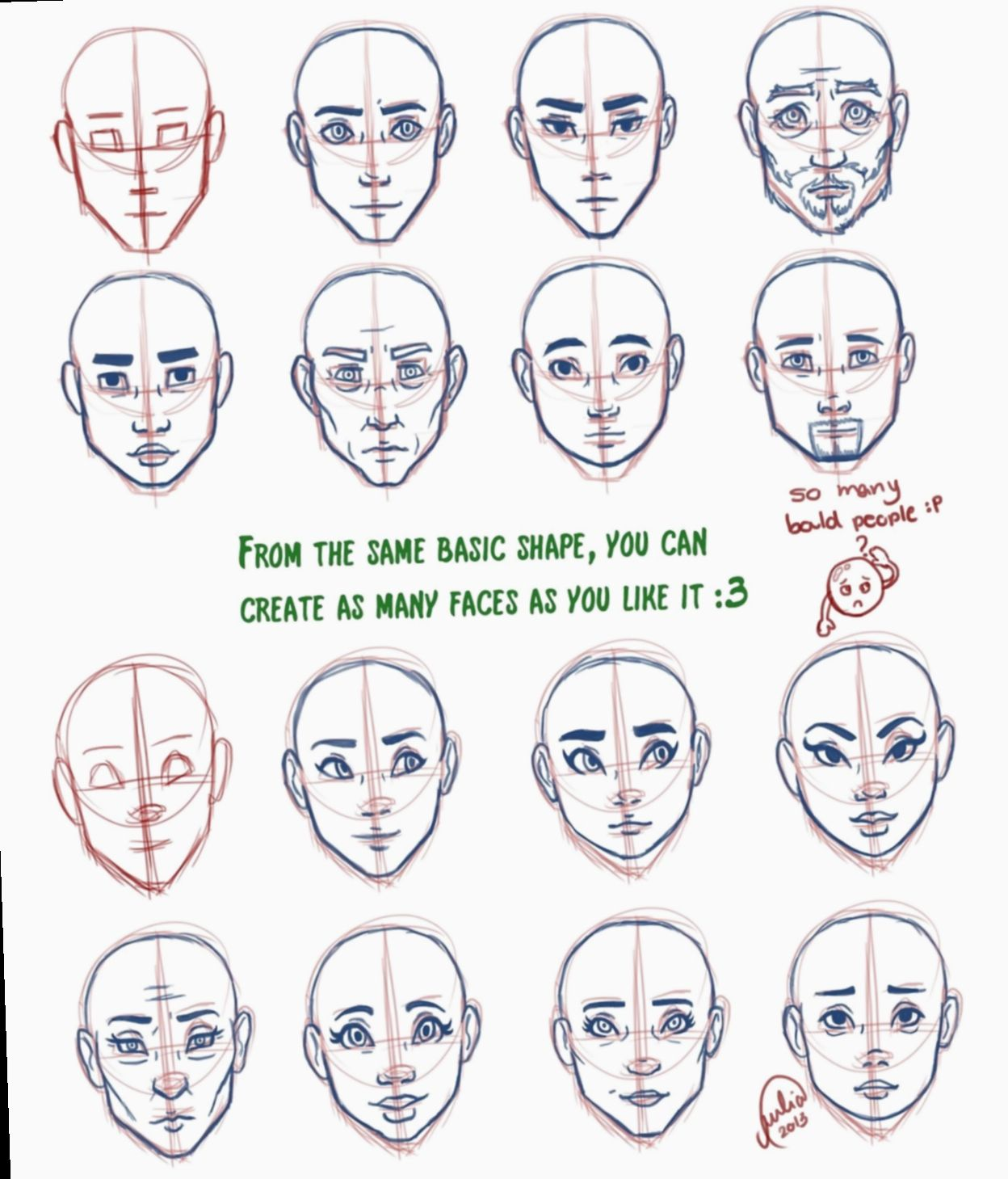 19 Anime Face Shapes Tutorial Anime Face Shapes Drawing Face Shapes Face Shape Chart