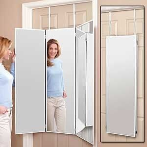 New 3 Way Dressing Mirror Overdoor Tri Fold White Hanging Dorm Mount Wall Bath Ebay Dressing Room Mirror Trifold Mirror Dorm Mirror