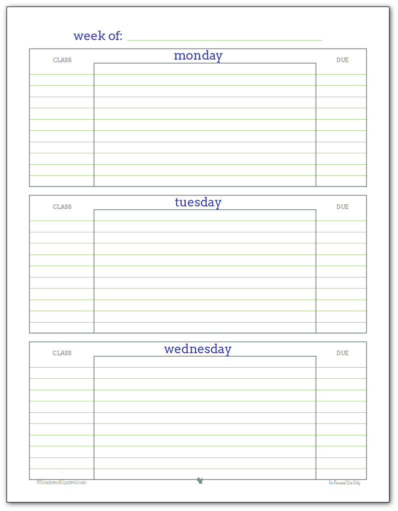 Getting Ready for Back to - Student Planner ... on printable calculator, printable folders, daily planner, printable math, printable calendar, printable lesson plans, weekly planner, printable cut and paste, menu planner, printable chore chart, printable school,