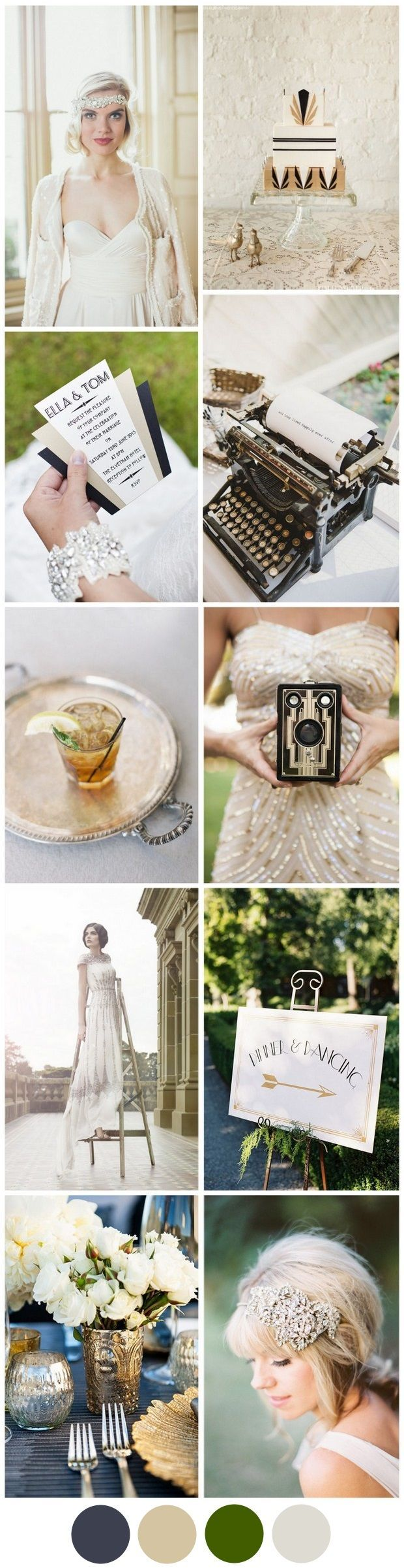 Great gatsby themed wedding dress  Channeling the Great Gatsby Your Art Deco Wedding Theme  Gatsby
