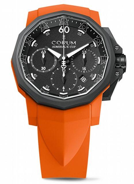 Corum - Admiral's cup challenger 44 Chrono Rubber #luxurywatch #Corum-swiss Corum Swiss Watchmakers watches #horlogerie @calibrelondon