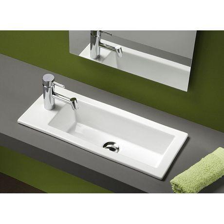 lave mains c ramique encastrer 42x25cm alicante 118910 faucet and sinks. Black Bedroom Furniture Sets. Home Design Ideas