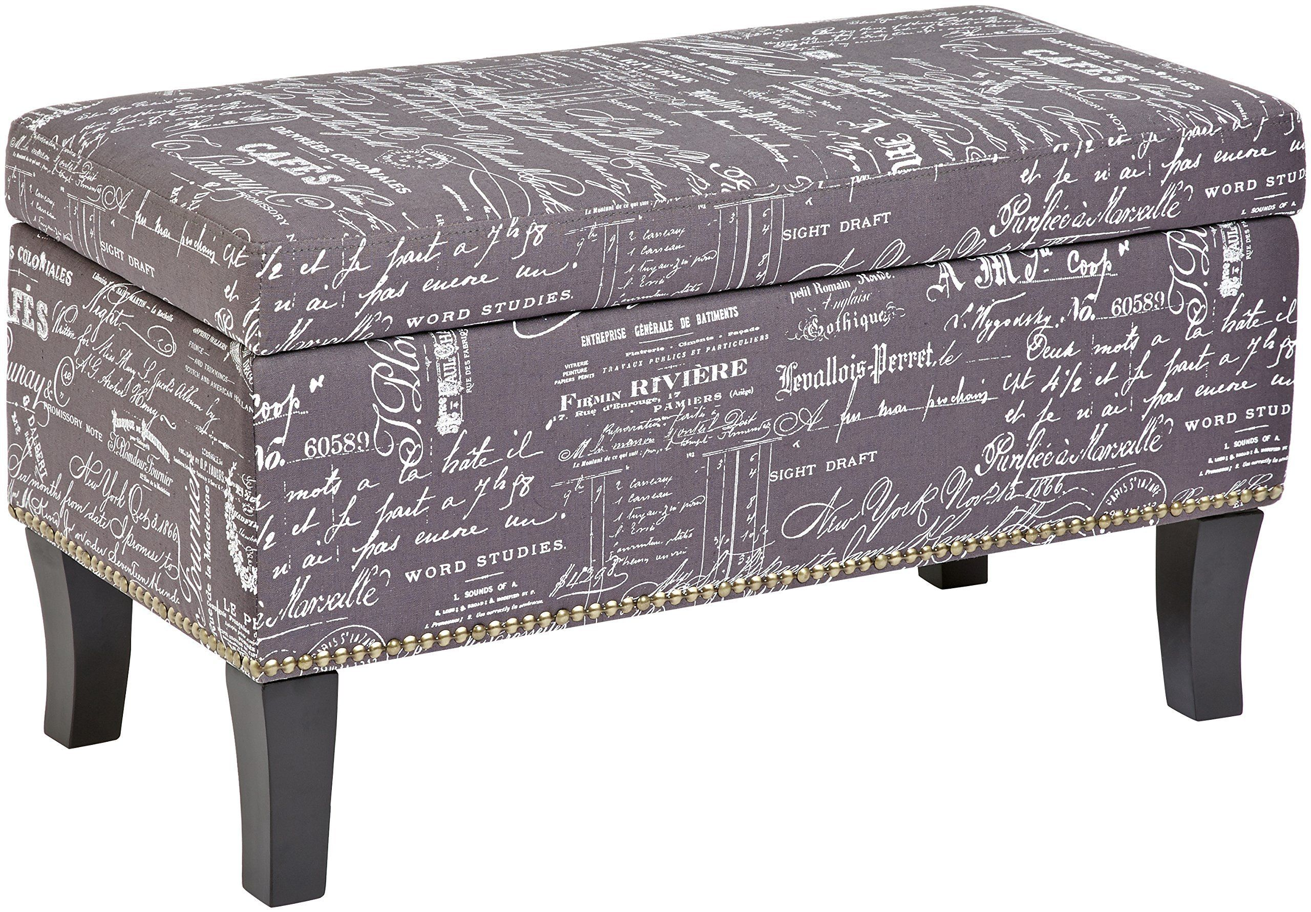 Cool First Hill Endora Rectangular Fabric Storage Ottoman With Gmtry Best Dining Table And Chair Ideas Images Gmtryco