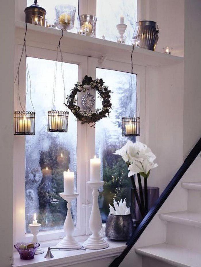 1001 ideen f r bezaubernde fensterdeko zu weihnachten fenster pinterest haus dekoration - Fensterbeleuchtung weihnachten ...