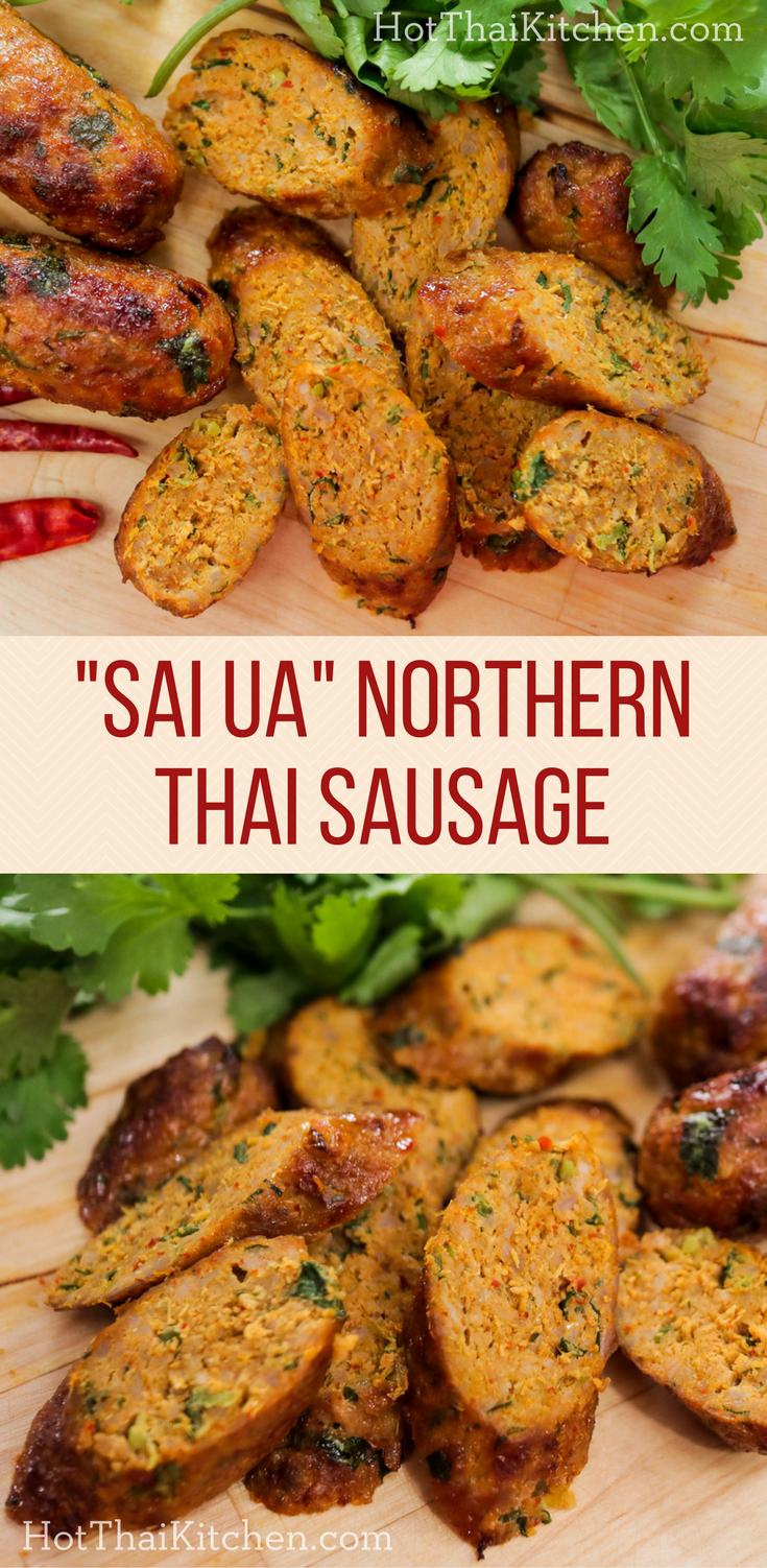 Sai Ua   Northern Thai Sausage Recipe ไส้อั่ว   Hot Thai Kitchen!   An  Iconic