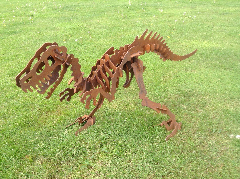 3D Rusty Metal Dinosaur 73cm / 3D Dinosaur puzzle / T-Rex / Dinosaur ...