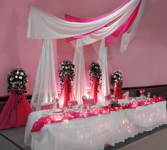 décoration de salle mariage  Décoration salle  Pinterest