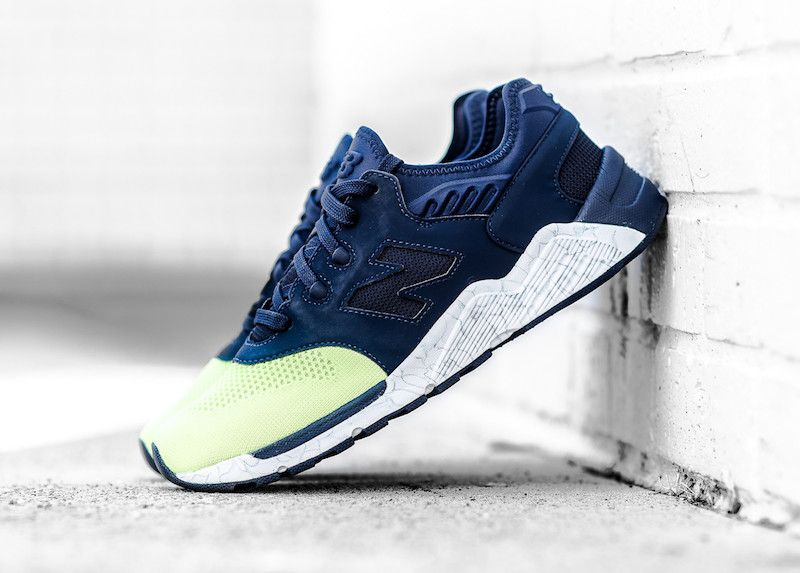New Balance 009 Navy Lime Glow. The New Balance 009 Navy Lime Glow features  Navy uppers and Lime Green, White midsole available now.