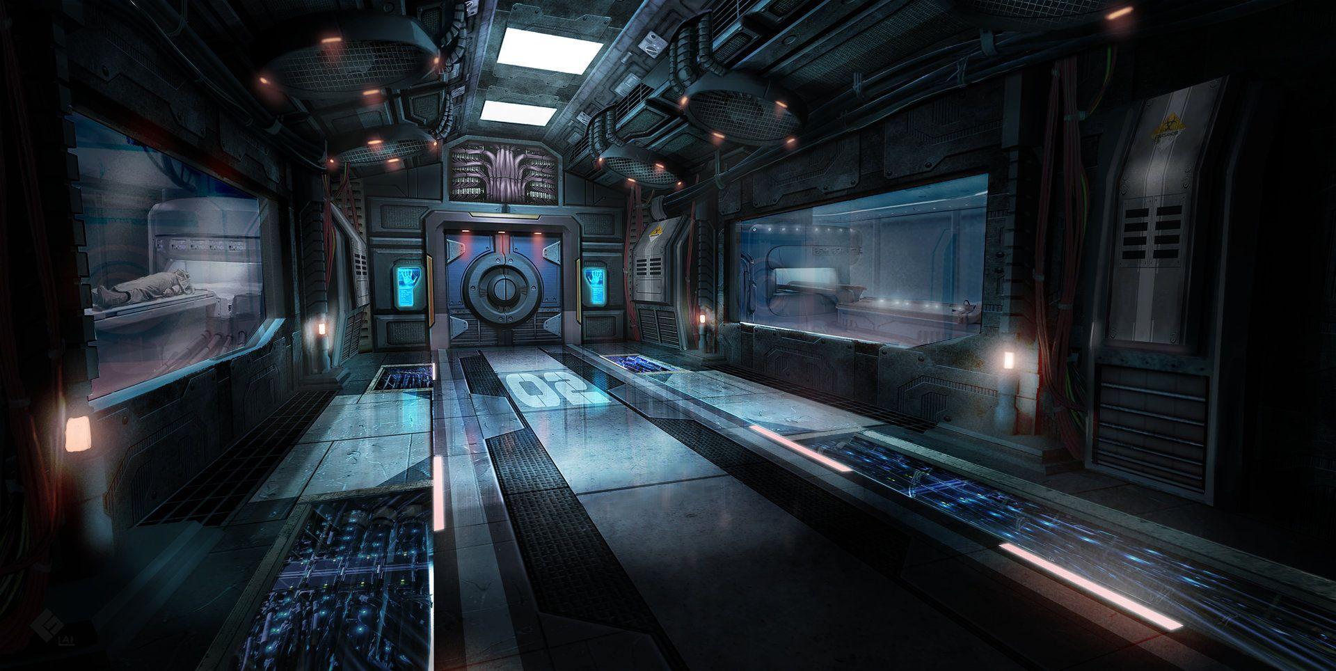 ArtStation - Med Bay, Brandon Lai   Game Art Inspiration in 2019