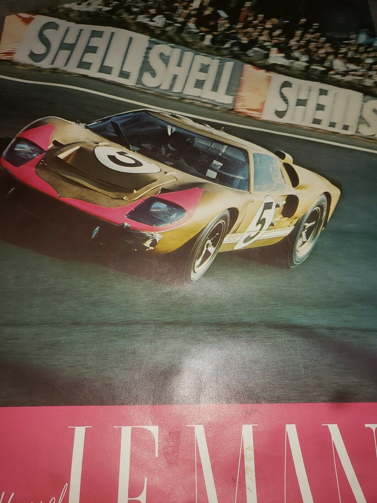 1966 Ford GT-40 Coupe 24 Hours of Le Mans Poster original RARE!! Awesome $54.0